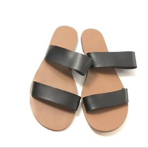 J. Crew Leather Boardwalk Slides Flip Flops Sandal